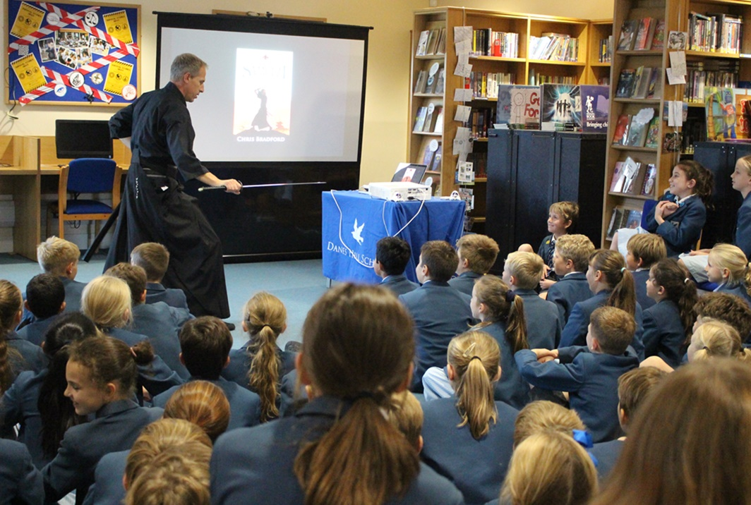 Author Chris Bradford Visits Danes Hill